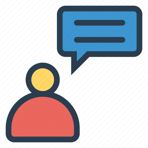 bubble, chat, message, profile, support, talk, user icon