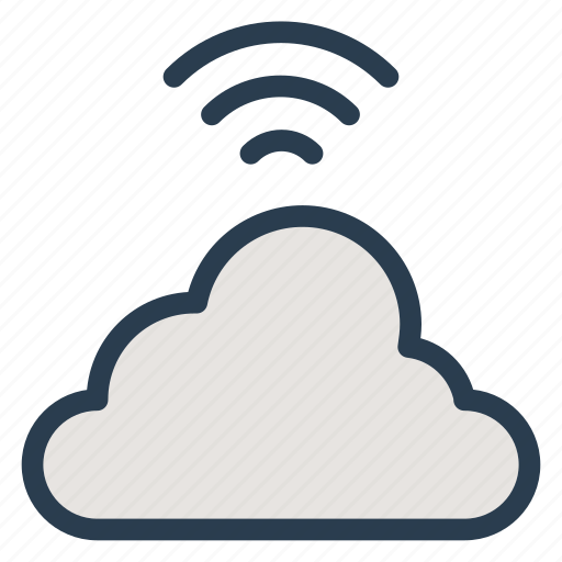cloud, connection, internet, signal, technology, wifi, wireless icon