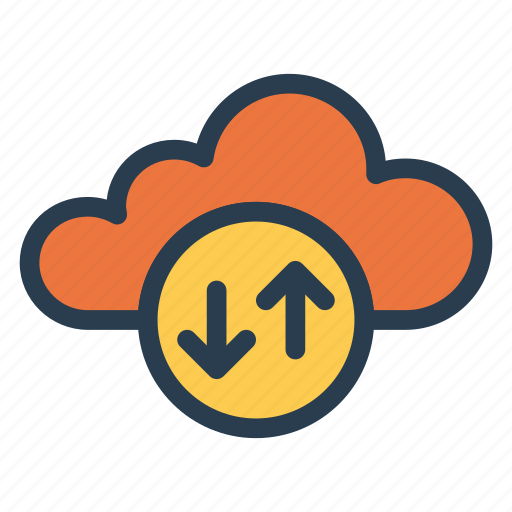 business, cloud, computing, download, multimedia, upload, weather icon