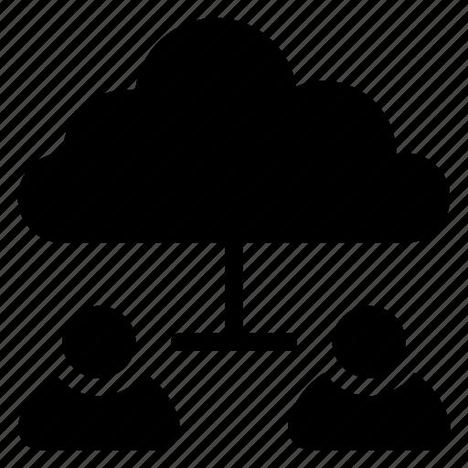 account, cloud, communication, computing, data, people, user icon
