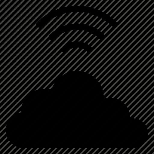 cloud, cloudy, internet, network, technology, wifi, wireless icon