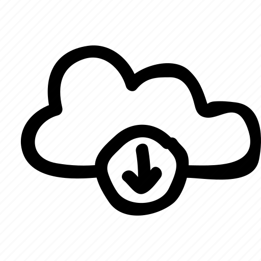 cloud, computing, data, download, multimedia, network, storage icon