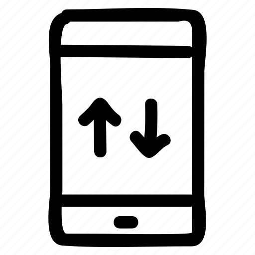 call, down, mobile, phone, tablet, telephone, up icon