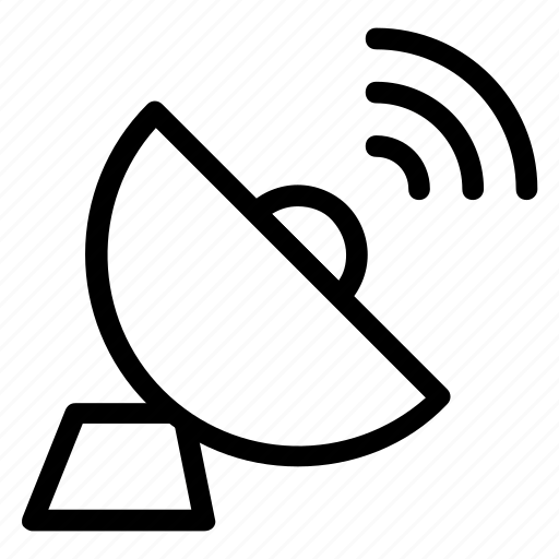 antenna, dish, gps, locate, media, radar, satellite icon