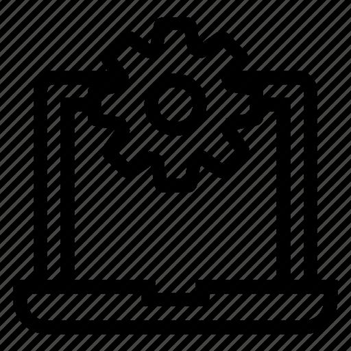 computer, configuration, development, laptop, optimization, pc, setting icon