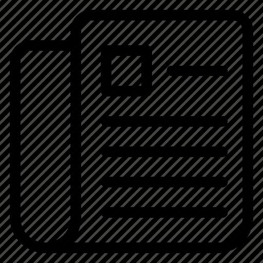 dailynews, information, media, news, newspaper, paper, press icon