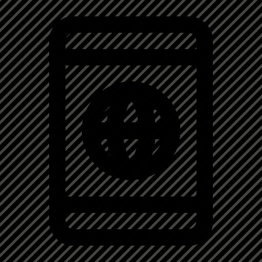 browser, globe, internet, mobile, smartphone icon
