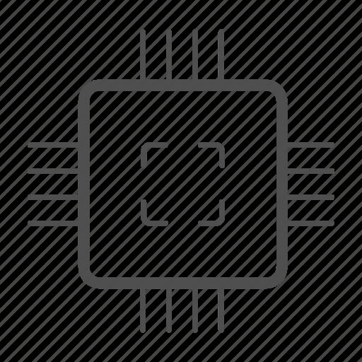 chip, computer, hardware, processor icon