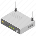 broadband signal, internet network, modem, wifi router, wireless connection icon