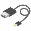 charger, data cable, data connector, data transfer, usb jack, wire harness icon