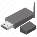 data storage, data traveller, flash drive, serial bus, usb device icon