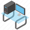 computer, desktop computer, pc, personal computer, technology icon