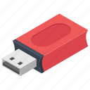 data storage, data traveller, flash drive, universal serial bus, usb device icon