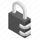 lock, padlock security, passcode, password, protection icon
