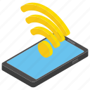 internet connection, mobile wifi, sharing signal, smartphone wifi, wireless signal icon
