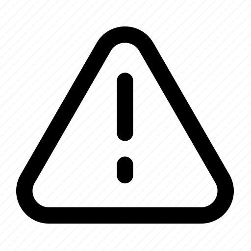 alert, attention, caution, danger, error, network, warning icon