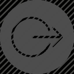 account, close, escape, exit, logout, out, outlet, output icon