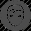 account, avatar, human, man, people, profile, user icon