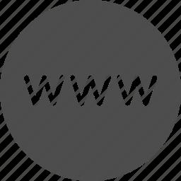 browser, internet, site, url, web, website, www icon