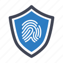 fingerprint, identification, security icon