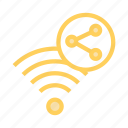 network, rss, share, signal, wifi icon