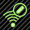 edit, rss, signal, wifi, write
