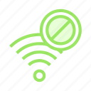ban, block, rss, wifi, wireless icon