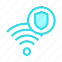 rss, shield, signal, wifi, wireless icon