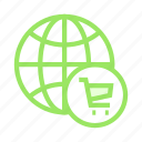 cart, ecommerce, shopping, trolley, world icon