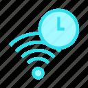 clock, rss, signal, time, wifi