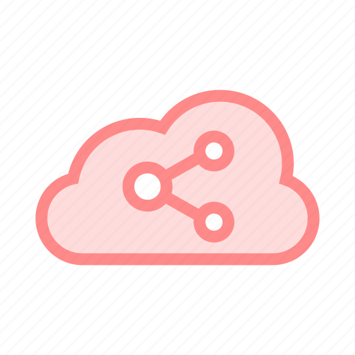 cloud, connection, database, share, storage icon