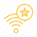 favorite, rss, signal, star, wifi icon