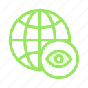 eye, global, see, view, world icon