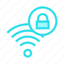 lock, rss, signal, wifi, wireless icon