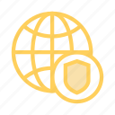 global, protection, security, shield, world icon