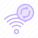 redo, reload, rss, signal, wifi icon