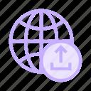 earth, global, globe, planet, upload