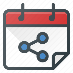 calendar, connection, interaction, network, share, sharing icon