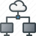 cloud, connection, document, network, share, sharing icon