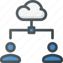 cloud, connection, network, share, sharing, users icon