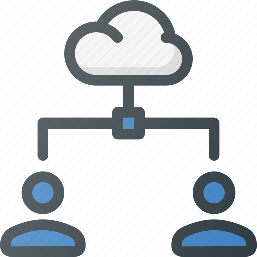 action, cloud, connection, network, share, sharing, users icon