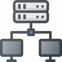 action, compute, connection, network, server, share, sharing icon