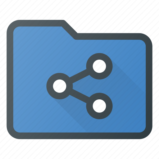 action, connection, document, folder, network, share, sharing icon