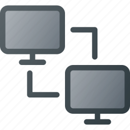 computer, connection, interaction, network, share, sharing icon