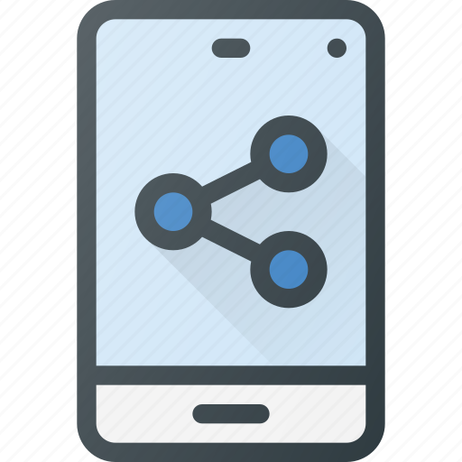 action, connection, info, network, phone, share, sharing icon