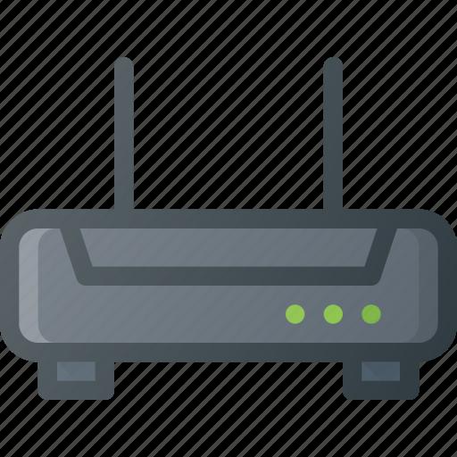 internet, modem, network, router, wifi, wireless icon