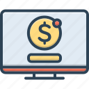 electronic, online, online payment, payment, technology, transaction, transfer icon