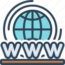 access, connection, global, planet, webhosting, world, world wide web icon