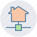 connection, home, house, internet house, network, technology icon