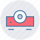 film, movie, power point, projection, projector, projector device, video icon